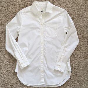 LOFT- White Button Down worn once!